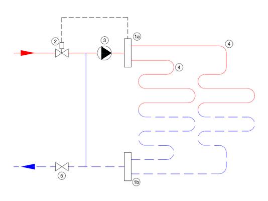 Schema circuitului colector HT