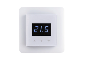 Z-Wave Domotica Control Digitale Z-Wave thermostaat RAL 9003-wit (incl. vloersensor)
